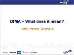 DfMA – What does it mean