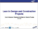 Lean in Design and Construction Projects