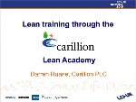 Lean training through the Lean Academy