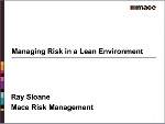 Managing Risk in a Lean Environment