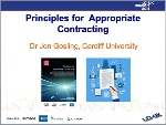 Principles for Appropriate Contracting